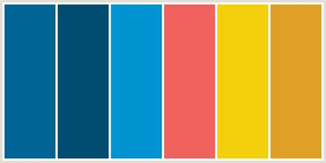 Yellow Colour Combination colorcombo8919 with hex colors 006495 004c70 0093d1