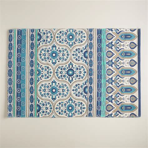 outdoor rugs world market 2 x3 blue floral reversible indoor outdoor rug world market