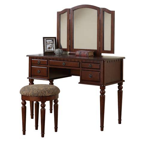 bedroom vanity furniture poundex furniture f407 bobkona st croix vanity set with