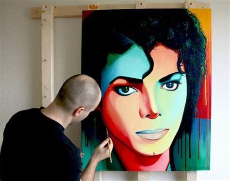Michael Jackson Acrylic Portrait Painting By Frank