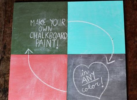 diy chalk paint with acrylic craft of the day how to make a chalkboard in any color