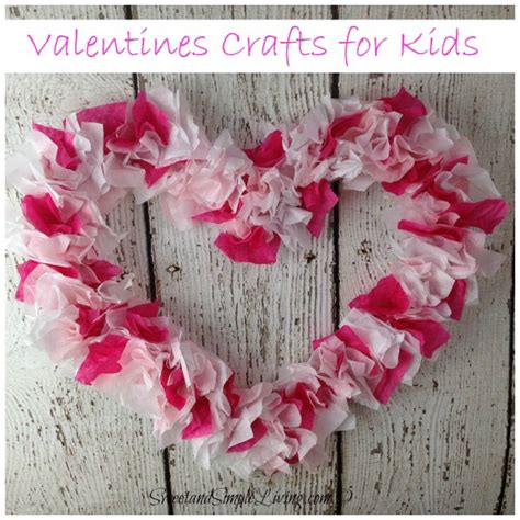 paper craft valentines valentines crafts for tissue paper sweet and
