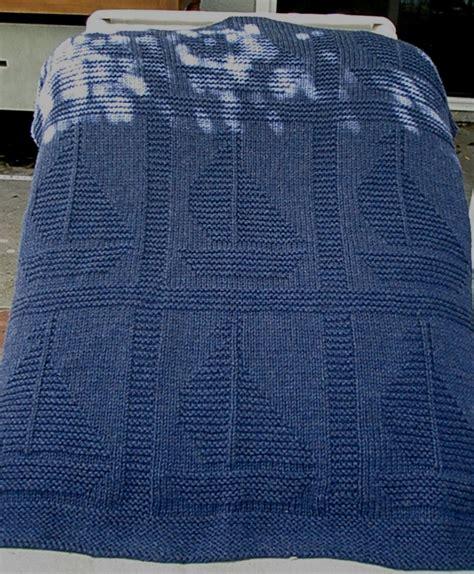 nautical blanket knitting pattern come sail away blanket free knitting pattern by yarnhog