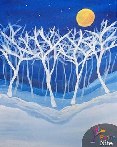 paint nite events on island paint nite trees in winter