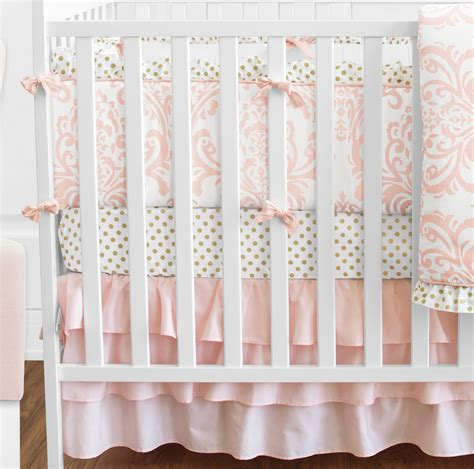 pink and white damask crib bedding sweet jojo blush pink white damask gold dot crib baby
