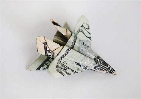 origami f 18 gifting money with origami f 18 fighter jet