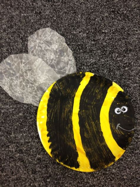 paper plate bumble bee craft preschool bumble bee craft classroom ideas