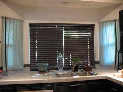 kitchen window blinds ideas wooden blinds for kitchen windows window treatments
