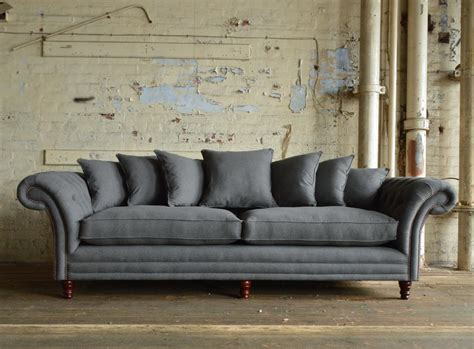 chesterfield sofa grey st mawes grey wool scatter back chesterfield sofa abode