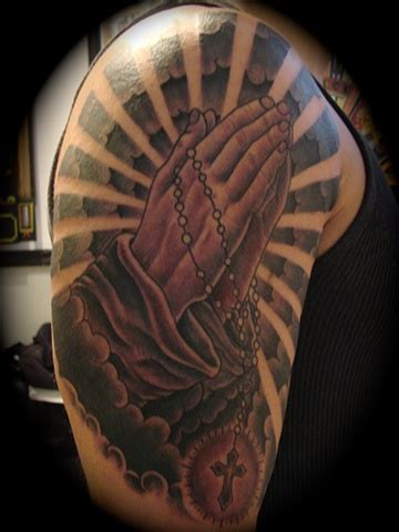 art freek tattoo praying hands