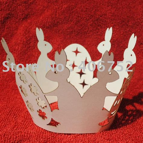 laser cutter for paper crafts laser cut paper craft quot happy rabbit year quot cupcake wrapper