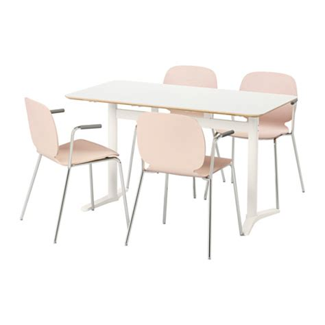 birch dining table and chairs billsta svenbertil table and 4 chairs white birch 130 cm
