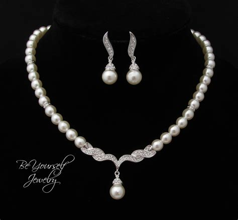 Wedding Jewelry Pearl Bridal Necklace By