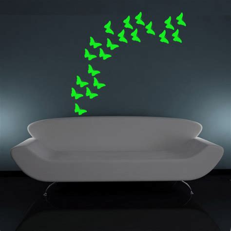glow in the wall sticker glow in the butterfly wall stickers that glow