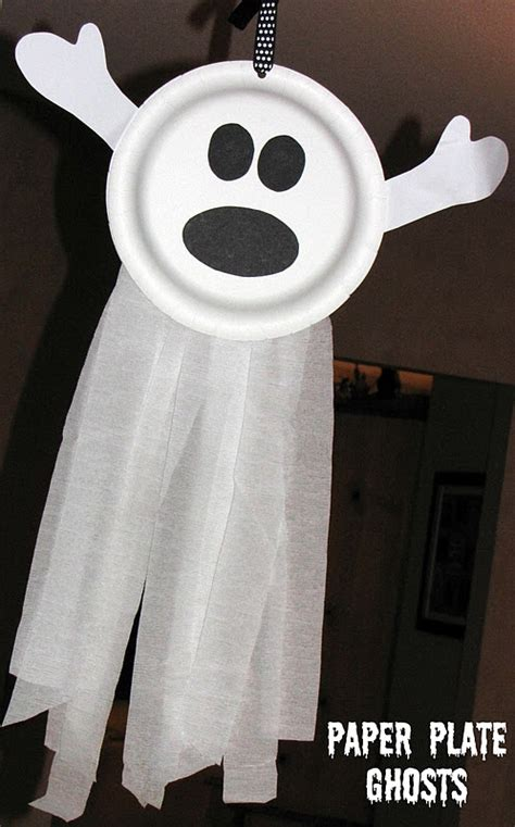 ghost crafts for diy paper plate ghostapplepins