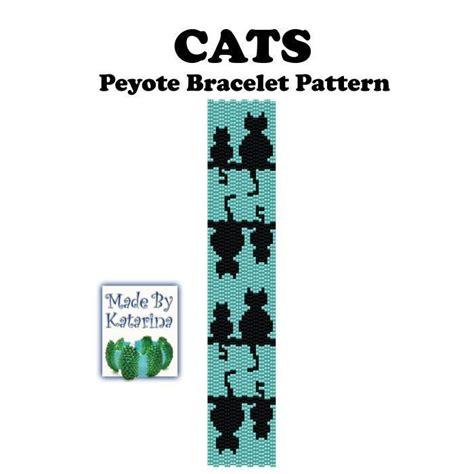 peyote bead bracelet patterns cats peyote bracelet by madebykatarina jewelry pattern