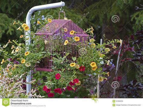 flower garden ornaments bird cage flower garden ornament stock images image