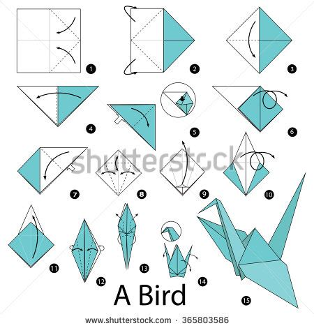 how to make origami cranes step by step step by step how to make origami a bird 折纸