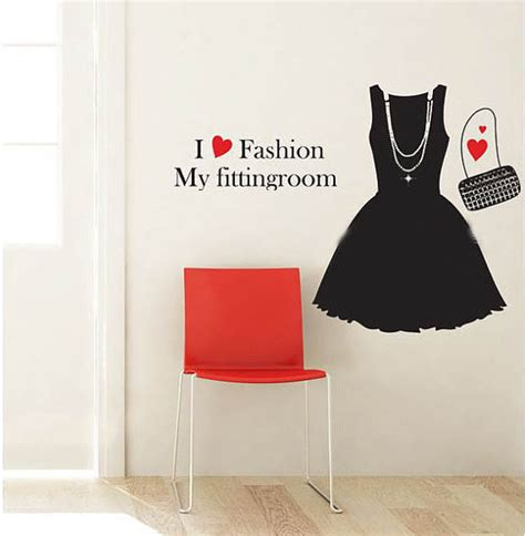 fashion wall stickers i fashion my fitting room wall sticker