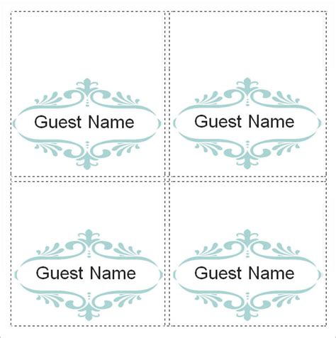 how to make table place cards in word sle place card template 6 free documents in