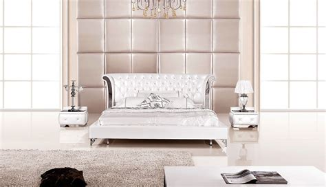 white bedroom furniture for 3 modern wing genuine white leather bedroom set