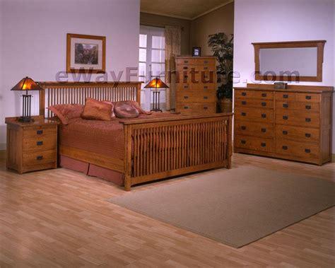 mission style bedroom sets solid oak mission spindle bedroom set