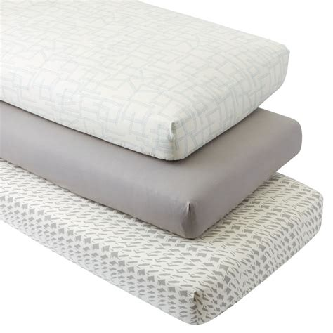 fitted baby crib sheets fitted crib sheets the land of nod