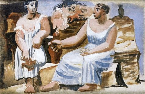 picasso neoclassicism paintings three at a study 1921 pablo picasso