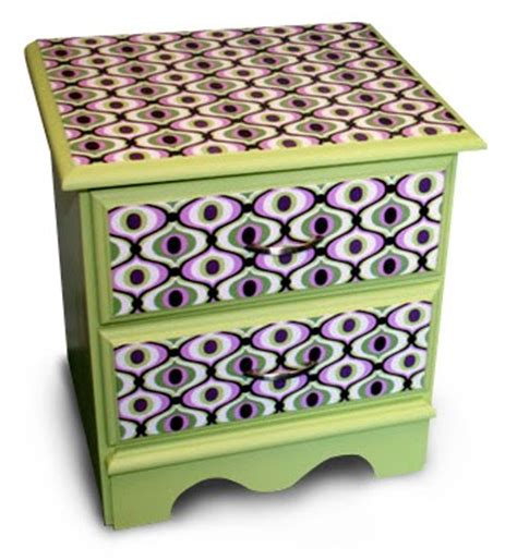 decoupage dresser with fabric how to decoupage fabric onto furniture how about orange