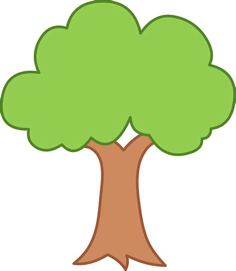 trees clipart simple green tree design free clip