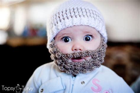 knitted baby beard diy crochet bobble beard free patterns home design