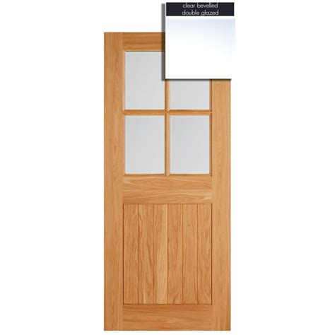 exterior door lights lpd adoorable oak cottage 4 light glazed exterior
