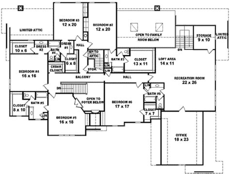 6 bedroom house designs european style house plan 6 beds 4 baths 7700 sq ft plan