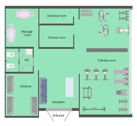 fitness center floor plans and spa area plans fitness center floor plan