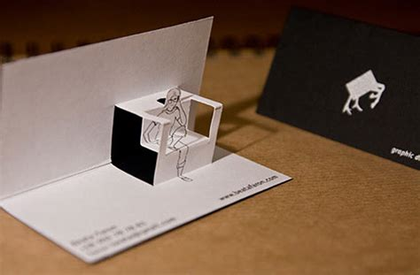 cool pop up cards to make five unique and creative business card designs