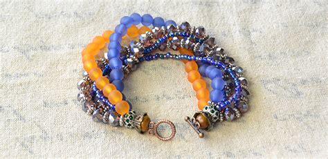 how to end a beaded bracelet diy multi strands beaded bracelet for summer and