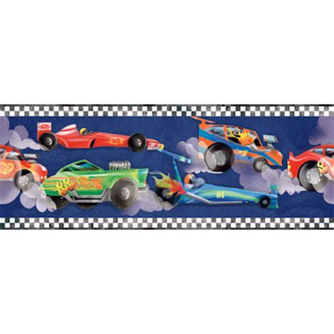 Race Car Wallpaper Border by Navy Blue Race Car Wallpaper Border