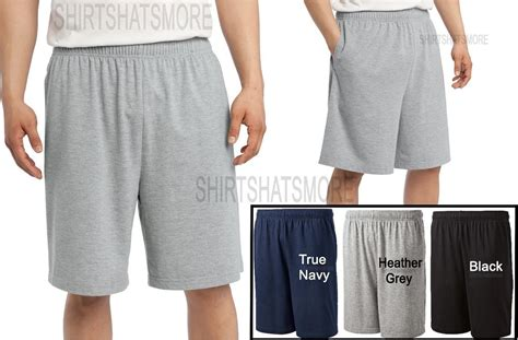 mens cotton knit shorts mens jersey knit cotton blend shorts with pockets s m l xl