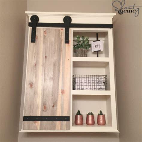 diy bathroom storage diy sliding barn door bathroom cabinet shanty 2 chic