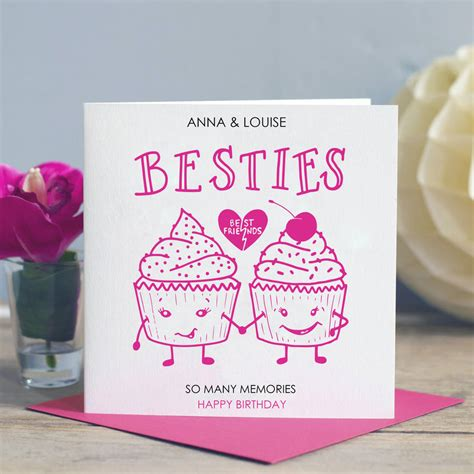 how to make cards for friends best friend birthday card besties by designs