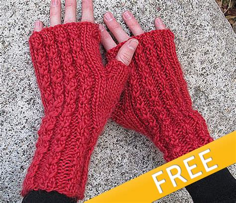 knitting website free knit cable mitts knitting and simple