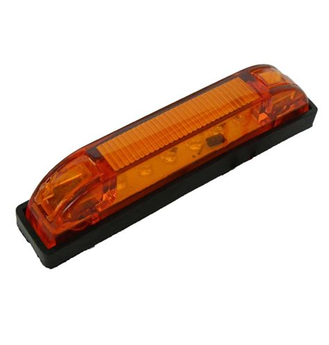 clearance lights 10 x multi volt yellow 12v 24v 4 quot led trailer clearance