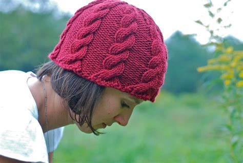 hats knitted on needles find your favorite free cable knit hat pattern