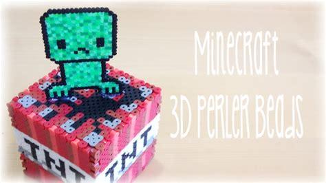 how to make 3d perler diy minecraft 3d perler bead cube with creeper
