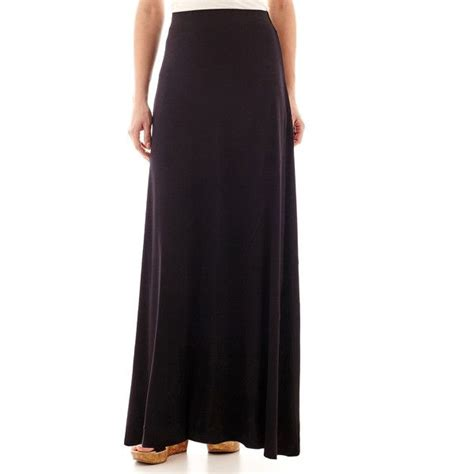 black knit maxi skirt worthington knit maxi skirt black 26 cad liked on