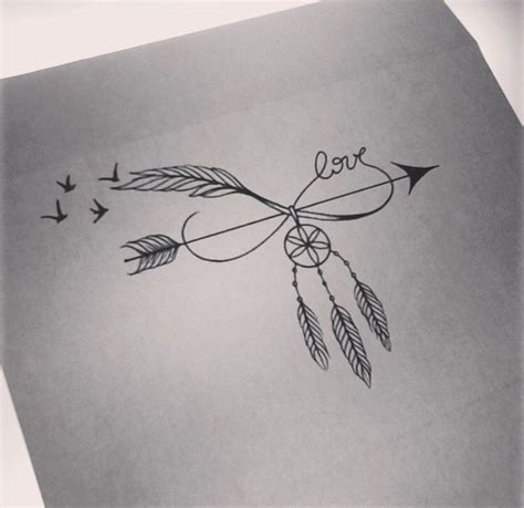 arrow infinity dream catcher birds tattoo tattoos
