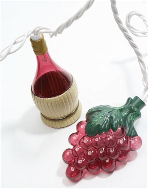 electric string lights touch of italy grape and wine bottle electric string