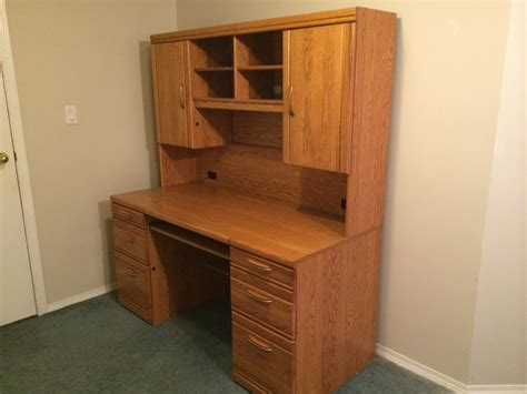 landon desk with hutch oak quot reduced price quot 300 oak computer desk with hutch