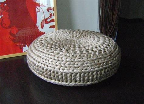 pouf pattern knit knitted pouf patterns a knitting
