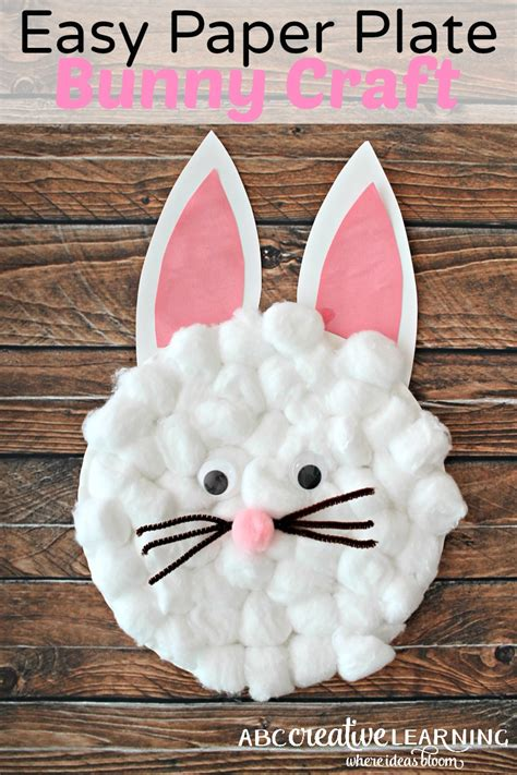 easy paper plate crafts for easy paper plate bunny craft for